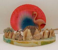 Vintage Seashell & Flamingo Souvenir TV Lamp Gulf Coast Kitsch Tacky Mid Century