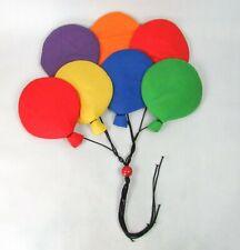 Vintage Wooltex Rainbow Balloons Wall Hanging Soft Sculpture Nursery Decor 80s