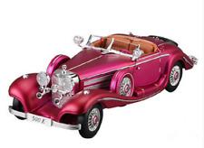 Maisto 1:18 Mercedes Benz 500 K Type Specialroadst Purple 500K Diecast Model Car