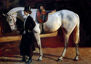 My Horse My Friend English Painting Alfred Munnings Dressage Canvas Print A3