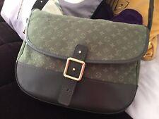 Louis Vuitton Khaki Canvas & Leather Messenger Shoulder Bag