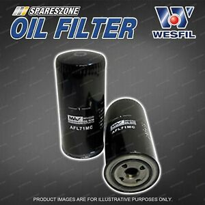 Wesfil Oil Filter for Ford F250 RM Turbo Diesel 6Cyl 6C MPFI SOHC 18V 07/01-2003