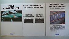 Prospekt Fiat Cinquecento/Suite/Sporting, 3.1995, 28 S.+Technik/Ausstatt+Leasing