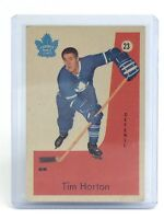 1959-60 Tim Horton #23 Parkhurst Toronto Maple Leaf Vintage Ice Hockey Card I064