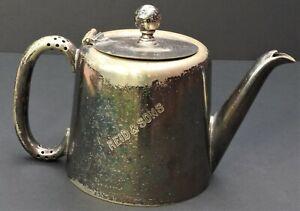 Antique historic plated coffee pot Reid's coffee palace Ballarat