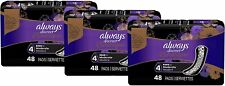 (3) 48 Count Always Discreet Boutique Incontinence Pads Moderate Absorbency