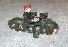 Hubley Style Vintage Cast Iron 1930's Motorcycle replica - aged style paint