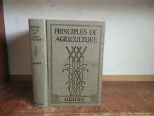 Old PRINCIPLES OF AGRICULTURE Book CROP FARM ANIMAL LIVESTOCK CORN GARDENING ++