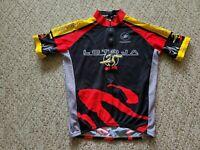 Squadra Men's LOTOJA Short Sleeve Cycling Jersey 1/2 Zipper Color Black Sz Large