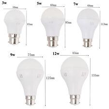 E27 B22 Bayonet LED Bulb 3/5/7/ 9/12/15w Day/Warm White Energy Saving Light 220V