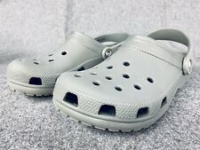 CROCS Classic Size M 7 / W 9 Water-Friendly Gray Clog Sandals