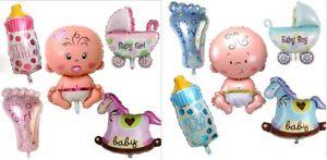 5 Teile Set Folienballon ITS IT'S A BOY / GIRL Baby Party Geburt Luftballon Fuß