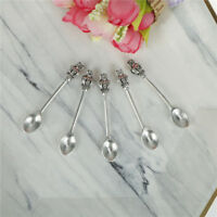 5pcs Vintage Crown Spoon Tableware Pendants Charms Jewelry Making Charll