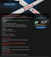 OBAN CT Series 100 or 115 Iron Shafts Raw And Uncut A Flex - X Flex BRAND NEW!
