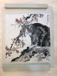 FINE CHINESE WATERCOLOR HAND PAINTING 25 3/4 X 31 Artist seal