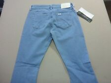087 WOMENS NWT LEE RIDERS 'BUMSTER VEGAS' LIGHT BLUE STRETCH JEANS 8 $110 RRP.
