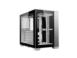 LIAN LI O11D MINI-W White SPCC / Aluminum / Tempered Glass ATX Mini Tower Comput