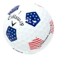 12 Callaway Chrome Soft Truvis Red/White/Blue Stars and Stripes Golf Balls AAA