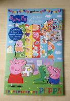 CHILDRENS KIDS PEPPA PIG STICKER PARADISE BOOK ALBUM & REUSABLE STICKERS - NEW