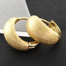 Handmade Hoop Yellow Gold Filled Fashion Earrings