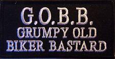 G.O.B.B.  VEST PATCH - MOTORCYCLE - GRUMPY OLD BIKER B*** EMBROIDERED VEST PATCH
