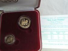 Israel 1997 Holy Land Wildlife Song of Songs Lion and Pomegranate 2 Gold Coins