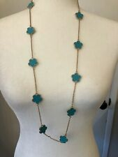 Long Turquoise Alhambra Necklace.