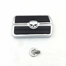 Skull Brake Pedal Large Pad For Harley Touring Softail Electra CVO Road Glide