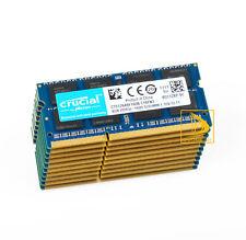 Crucial 10X 4GB PC3L 12800 2RX8 DDR3L 1600MHz Laptop Memory RAM SO-DIMM Prüfung