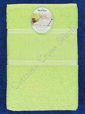 Cross Stitch Baby Towel Cotton Terry Bath Towel Lime