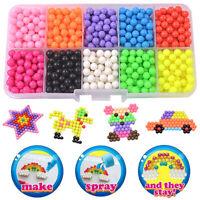 1100 Stück Glitzerperlen Steckperlen Aqua Beads Basteln Kinder Bastelset Perlen