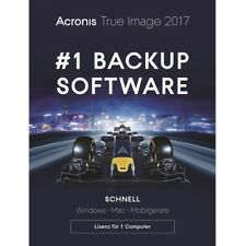 Acronis True Image 2017 / 2018* 1-PC Backup+Recovery Dauerlizenz / Update / KEY