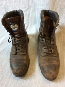 Vintage Georgia Boot 11.5 Logger Work Ranch work construction lace up distressed