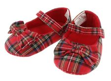 Scottish Baby Girls Tartan Shoes Available In Various Colours/Sizes 0-24 Months