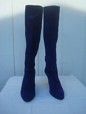 New Vintage Emme Uno Purple Genuine Suede Leather Women Boots 9 It 7,5 US Italy
