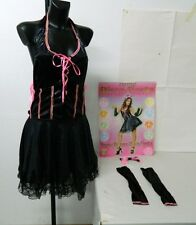Costume Vestito da adulto donna DISCO FIESTA Gattina Carnevale Halloween C131