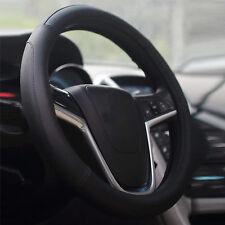 AU Black Silicone Car Steering Wheel Cover Wheel Hub Rim Protector, Anti-Scratch