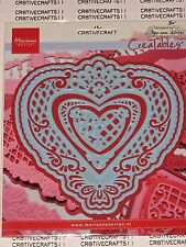 "MARIANNE CREATABLE DIES- ""ANJA'S FILLAGRAN HEART""  LR0299 FOR VICTORIAN CARDS"