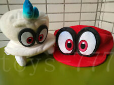2X Super Mario Odyssey Cartoon Character Cappy Hat And 8'' Cappy Plush Toy Soft