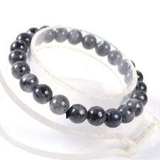 "8mm Fashion Black Labradorite Gems Round beads stretchable bracelet 7.5"" J14"