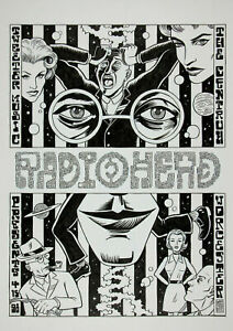 RADIOHEAD 1989 A3/A4 Rock Band music GIG vintage advert print Poster