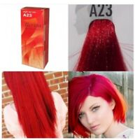 BERINA HAIR COLOR CREAM HAIR DYE BRIGHT RED COLOR A23 PERMANENT