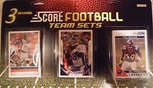 Denver Broncos Score Factory Sealed 3 Team Set Gift Lot  2011 2013 and 2015 Sets