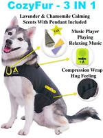 Dog Anxiety Vest Separation Fireworks Thunder Shirt Vest Jacket + Music + Scent