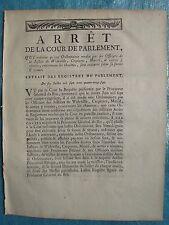 ARRÊT 1787 : CHAUMES à WIDEVILLE, CRESPIERES, MAREIL (Yvelines)