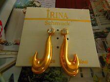 IRINA - OHRSCHMUCK ** OHRSTECKER ** GOLDIG + STRASS - STEIN