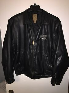 Vintage BUFFALO BISONS Leather Jacket Medium bills sabres jersey
