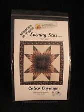 "Evening Star Quilt Pattern by Calico Carriage 80"" x 80"" never used"
