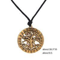 Wicca Norse Viking Rune Tree of Life Yggdrasil Pentagram Pendant Amulet Necklace