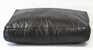 """Dog Bed, Black Faux Leather  8"""" Deep, Extra Large, Removable inner, 3 sizes"""